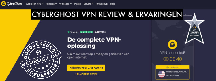 cyberghost vpn review en ervaringen