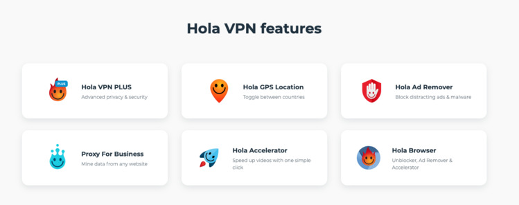 Hola-VPN-functionaliteit